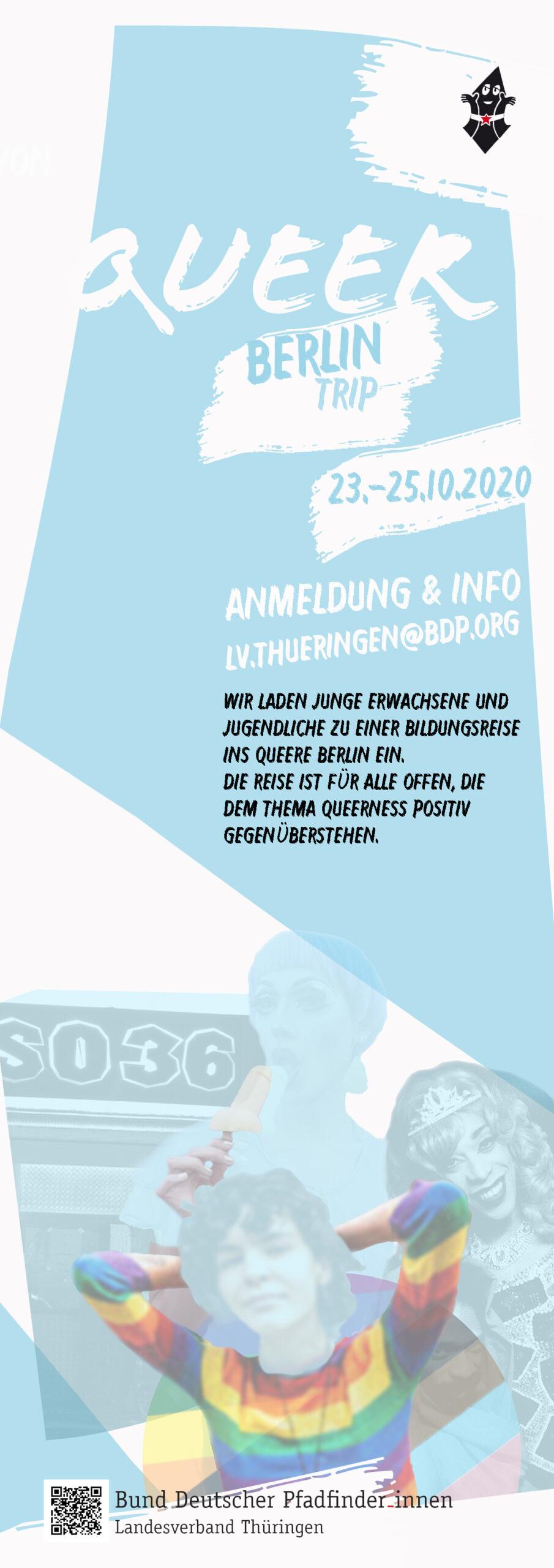 Flyer für Queer Berlin-Bildungsreise